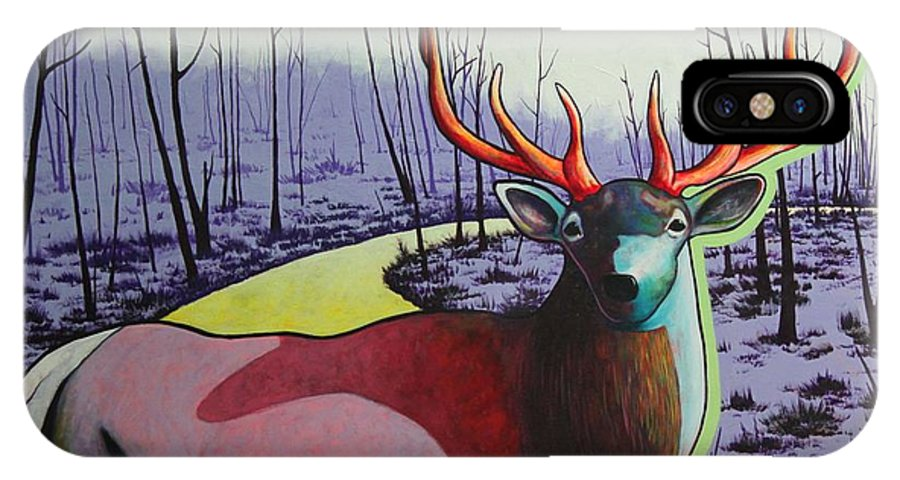 Wildlife In Yellowstone Park IPhone Case featuring the painting A Close Encounter In Yellowstone by Joe Triano
