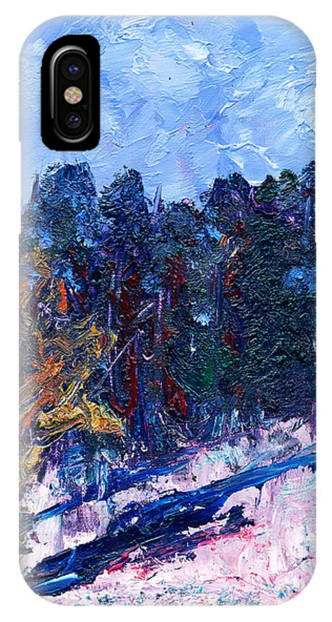A Cold Day In March IPhone X / XS Case featuring the painting A Cold Day In March by Janet Gunderson