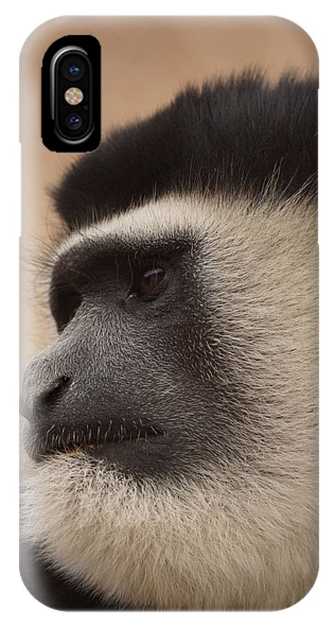 Colobus Monkey IPhone X Case featuring the photograph A Colobus Monkey by Ernie Echols