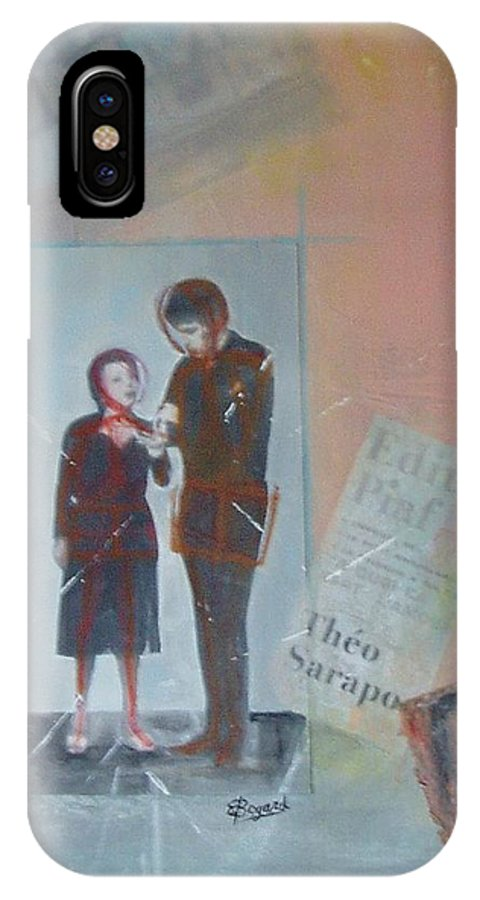 Edith Piaf IPhone X Case featuring the mixed media A Cuoi Ca Sert L'mour Or What Else Is There But Love by Elizabeth Bogard