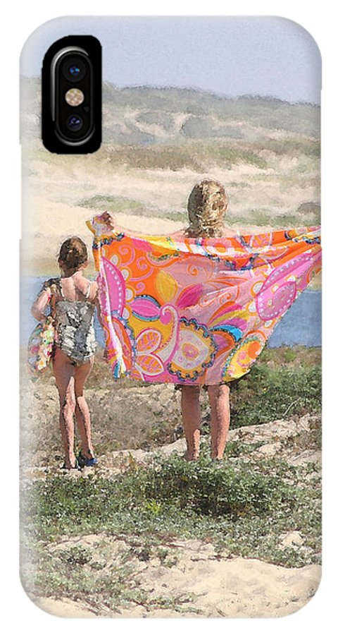 Pismo Beach IPhone X Case featuring the photograph A Day At The Beach by Art Block Collections