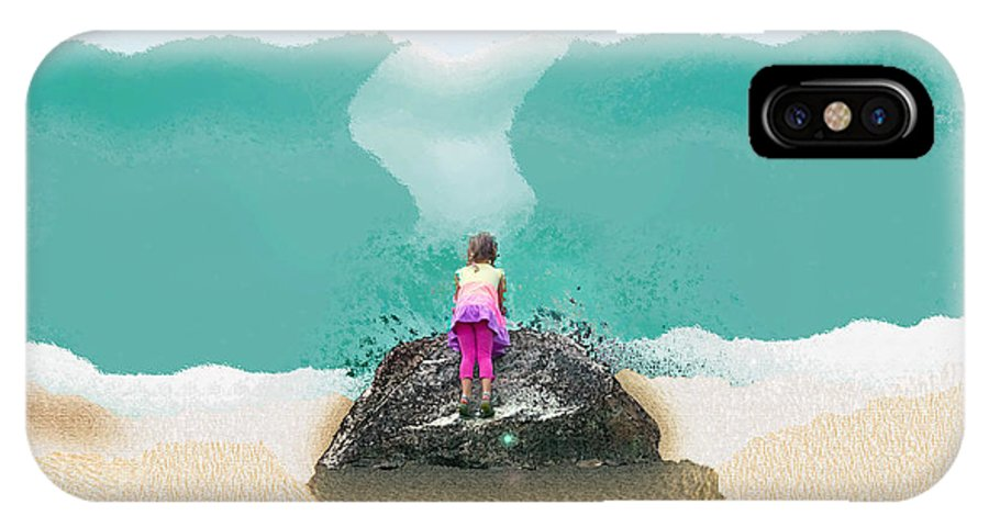 Beach IPhone X Case featuring the photograph A Day At The Beach by Cassandra Buckley