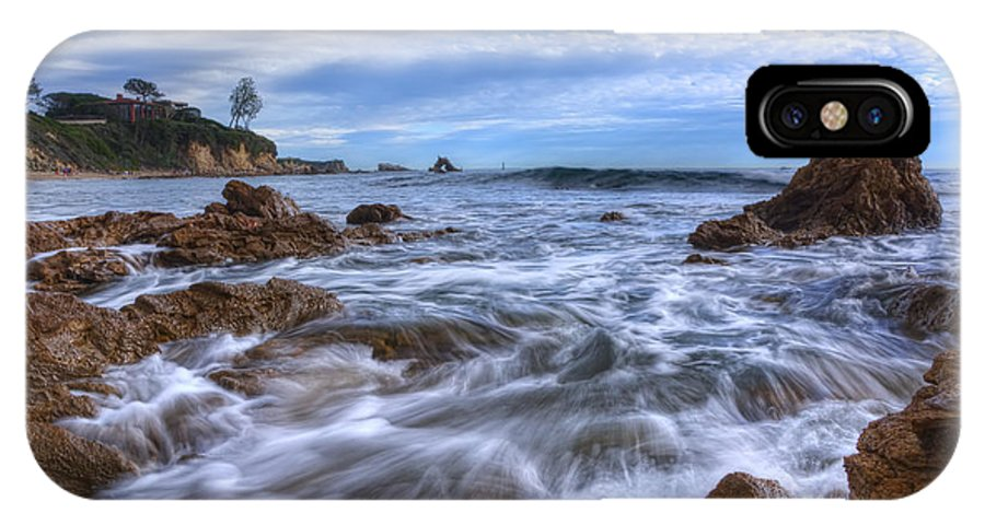 Day IPhone X Case featuring the photograph Low Tide In Corona Del Mar by Eddie Yerkish
