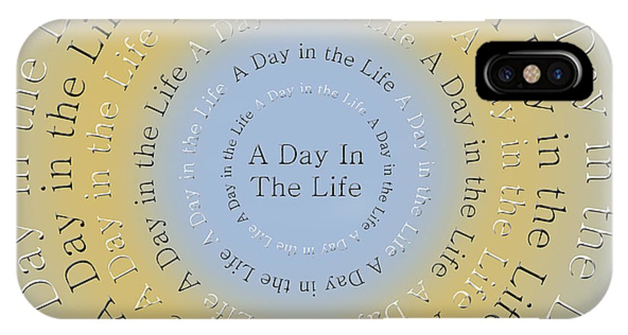 Andee Design IPhone X Case featuring the digital art A Day In The Life 3 by Andee Design