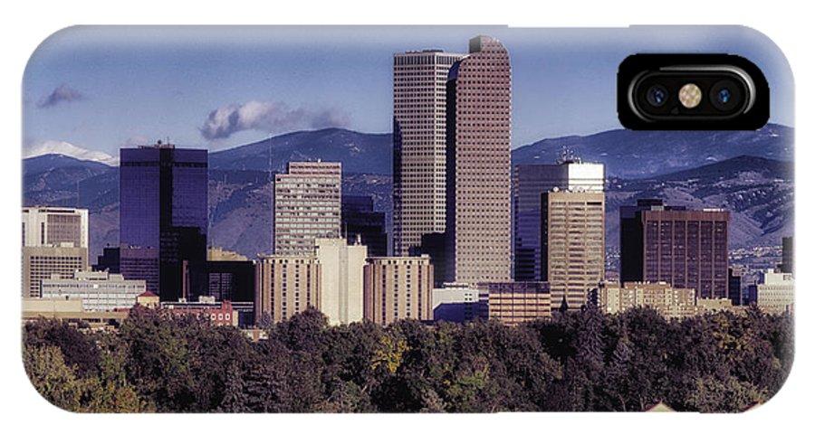 Denver IPhone X Case featuring the photograph A Denver Autumn by Mountain Dreams