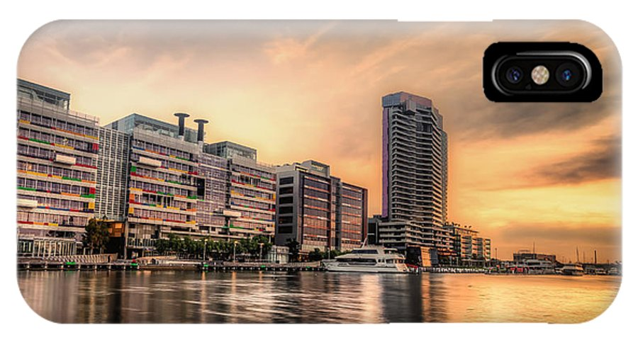 Melbourne IPhone X Case featuring the photograph A Docklands Sunset by Paradigm Blue