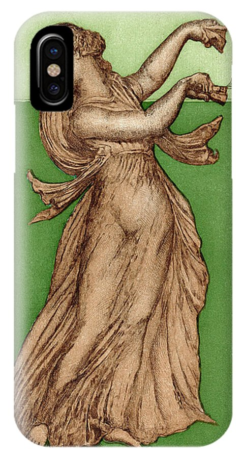Solo IPhone X Case featuring the drawing A Female Dancer Performs Alone by Mary Evans Picture Library