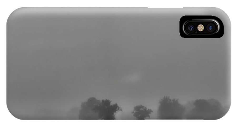 Fog IPhone X Case featuring the photograph A Foggy Day In Starkville Town by Allen Gresham