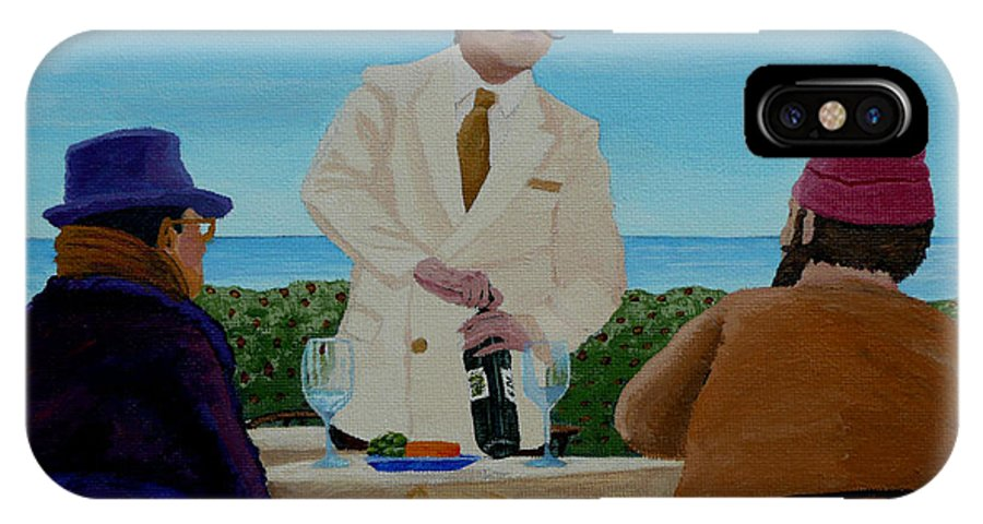 Wine IPhone Case featuring the painting A Fresh Bottle by Anthony Dunphy
