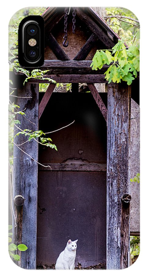 Animal IPhone X Case featuring the photograph A Ghost In The Potting Shed by John Carroll