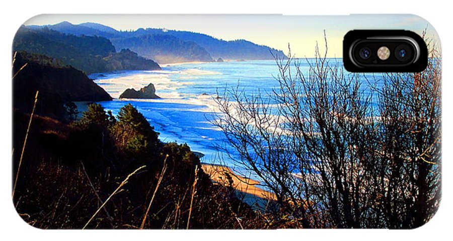 Pacific IPhone X Case featuring the photograph A Gorgeous Morning On The Pacific by Joyce Dickens