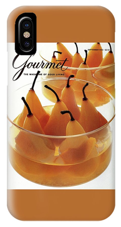 Food IPhone X Case featuring the photograph A Gourmet Cover Of Baked Pears by Romulo Yanes