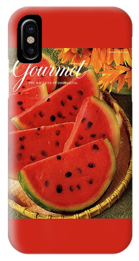 Food IPhone X Case featuring the photograph A Gourmet Cover Of Watermelon Sorbet by Romulo Yanes