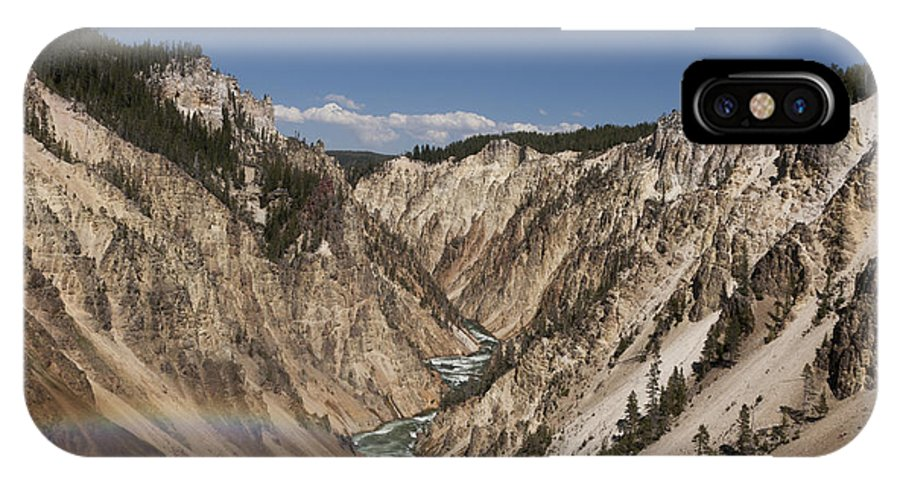 Yellowstone IPhone X Case featuring the photograph A Grand View by Jason Standiford