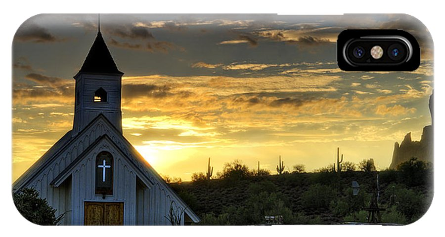 Sunrise IPhone X Case featuring the photograph A Heavenly Morning by Saija Lehtonen