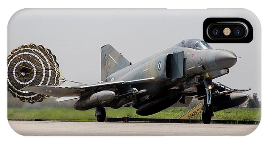 Greece IPhone X Case featuring the photograph A Hellenic Air Force F-4e Phantom by Timm Ziegenthaler
