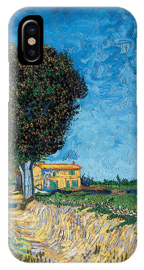 Vincent Van Gogh IPhone X Case featuring the painting A Lane Near Arles by Vincent van Gogh