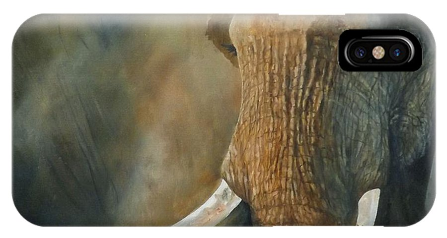 A Little Bit Missing IPhone X Case featuring the painting A Little Bit Missing by Barry BLAKE