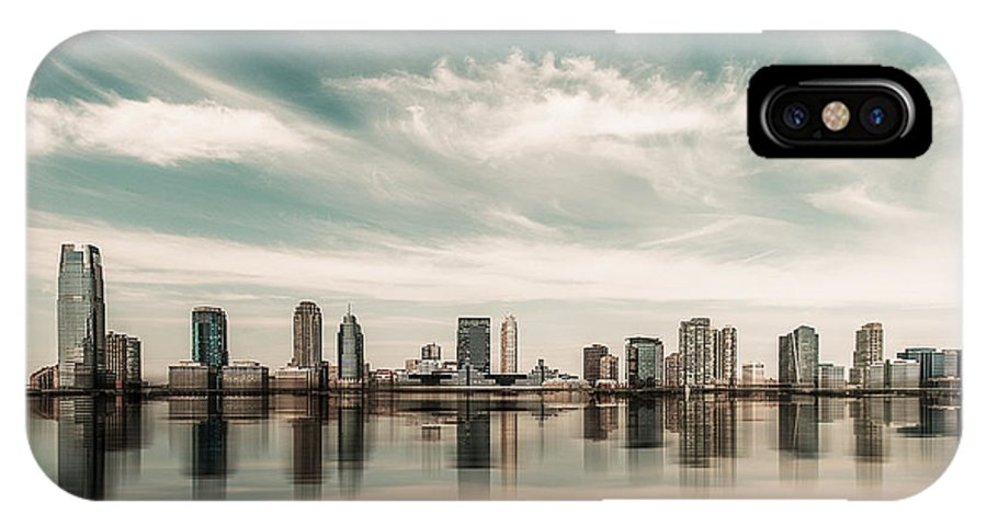 Nyc IPhone X / XS Case featuring the photograph a look to New Jersey by Hannes Cmarits