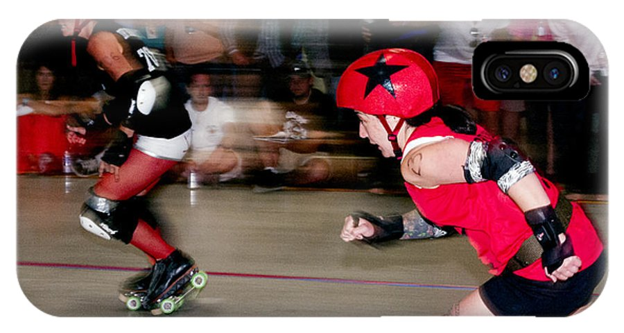 Roller Derby IPhone X Case featuring the photograph A Mad Dash by Jason Standiford