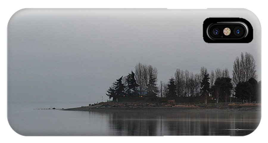 Water IPhone X Case featuring the photograph A Morning For Reflection by Randy Hall
