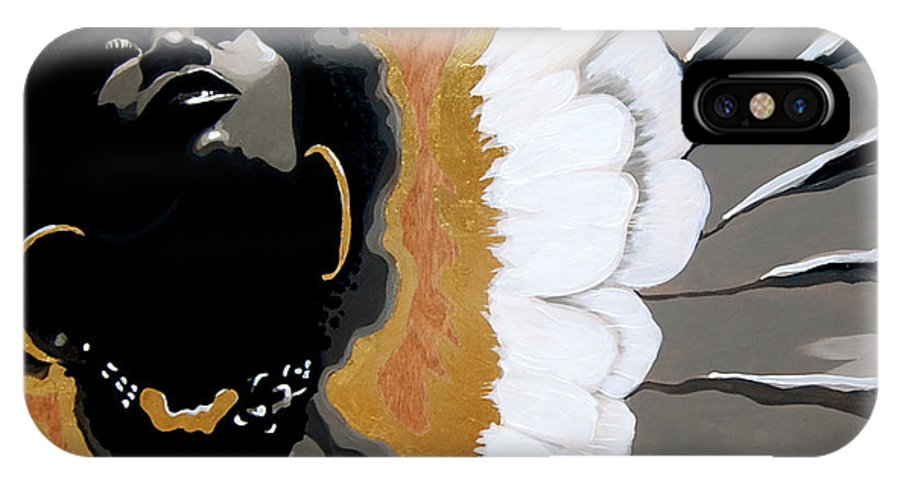 Angel IPhone X Case featuring the painting A Natural Angel by Jerome White