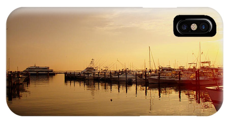 Harbor IPhone X Case featuring the photograph A New Day Beings On The Water - Atlantic Highlands - Nj by Mother Nature