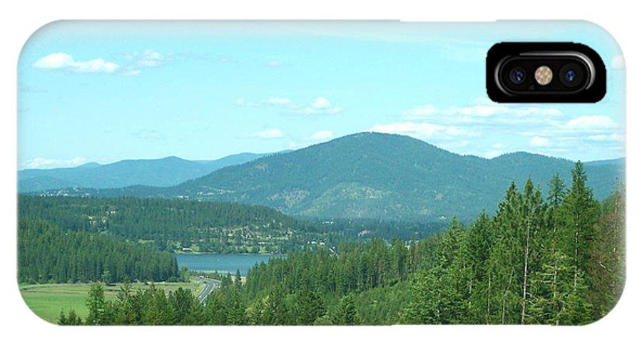 Idaho IPhone X Case featuring the photograph A Peek At Lake Coer D'alene by Georgia Hamlin