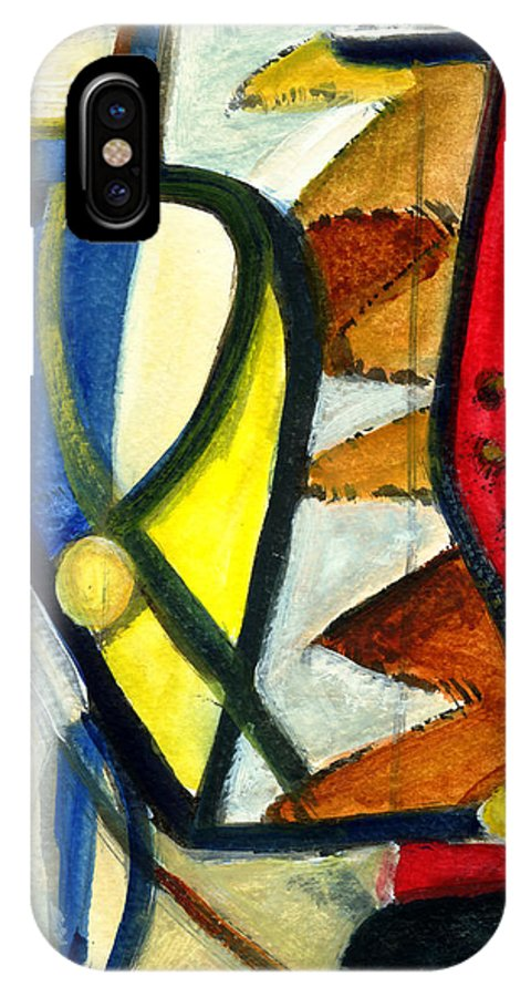 Abstract Art IPhone X Case featuring the painting A Perfect Image by Stephen Lucas
