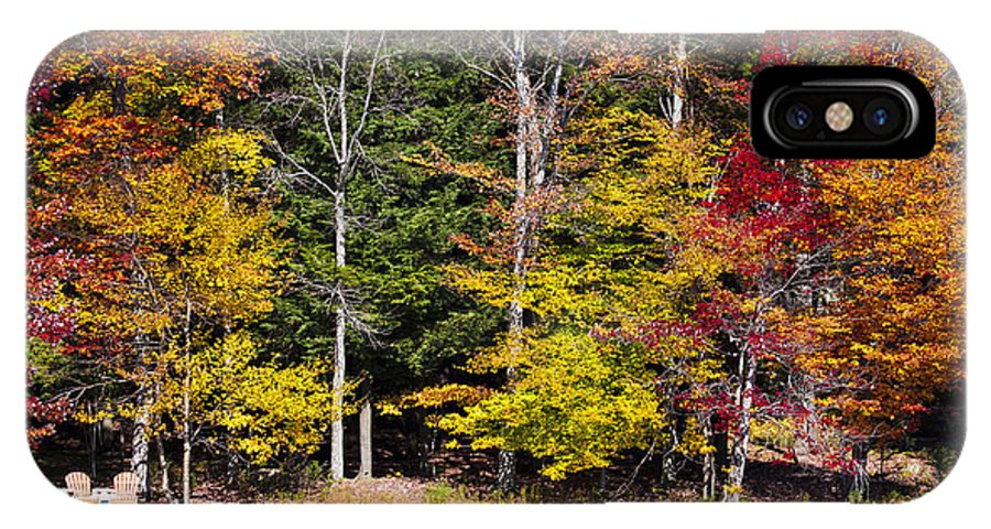 Adirondack's IPhone X / XS Case featuring the photograph A Place To Relax In The Adirondacks by David Patterson