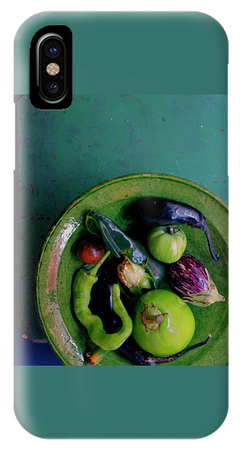 Fruits IPhone X Case featuring the photograph A Plate Of Vegetables by Romulo Yanes
