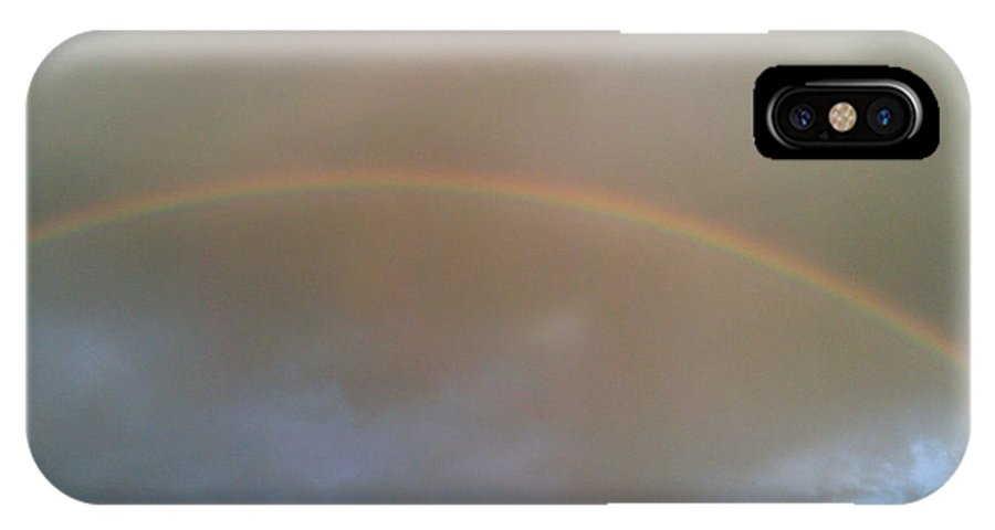 IPhone X / XS Case featuring the photograph A Rainbow Over Kansas by Kelly Awad