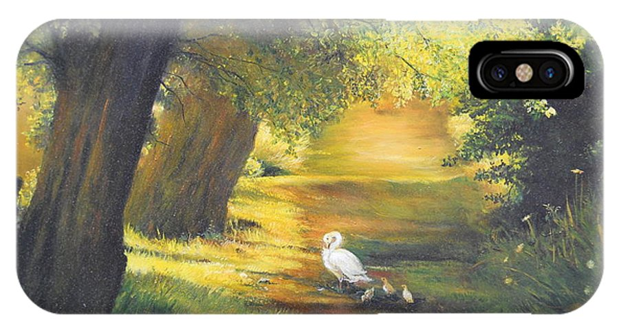 Summer IPhone X Case featuring the painting A Ray Of Sunshine by Sorin Apostolescu