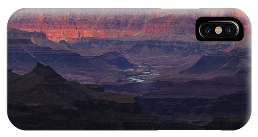 Canyon IPhone X Case featuring the photograph A River Runs Through It by Gene Sherrill