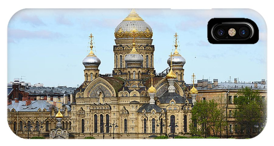Russia IPhone X Case featuring the photograph A River View Of Saint Petersburg by Harvey Barrison