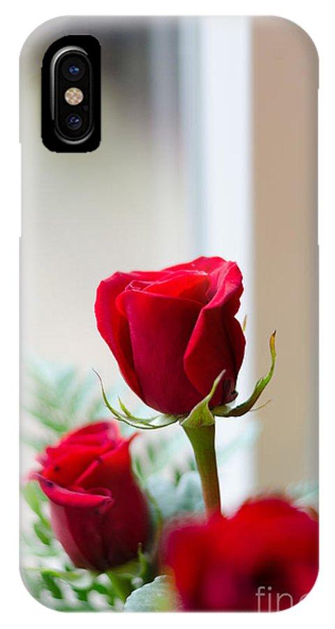 Floral IPhone X Case featuring the digital art A Rose Is A Rose by Faith Locke Siewert