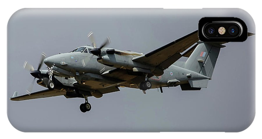Greece IPhone X Case featuring the photograph A Royal Air Force Shadow R1 Aircraft by Timm Ziegenthaler