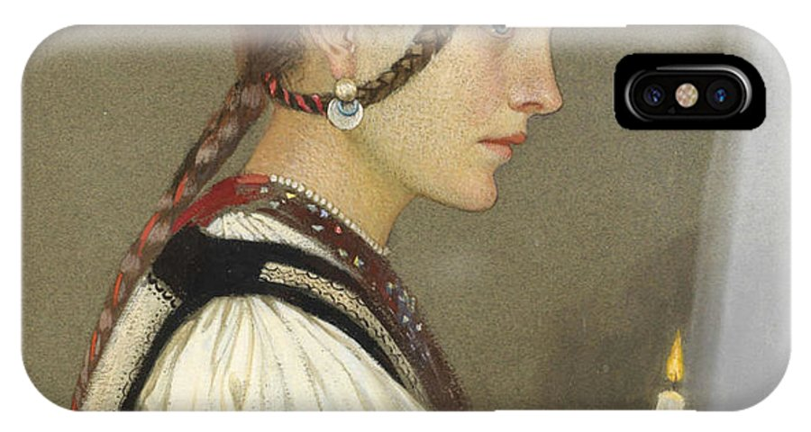 Marianne Stokes - A Rumanian Bridesmaid IPhone X Case featuring the painting A Rumanian Bridesmaid by MotionAge Designs