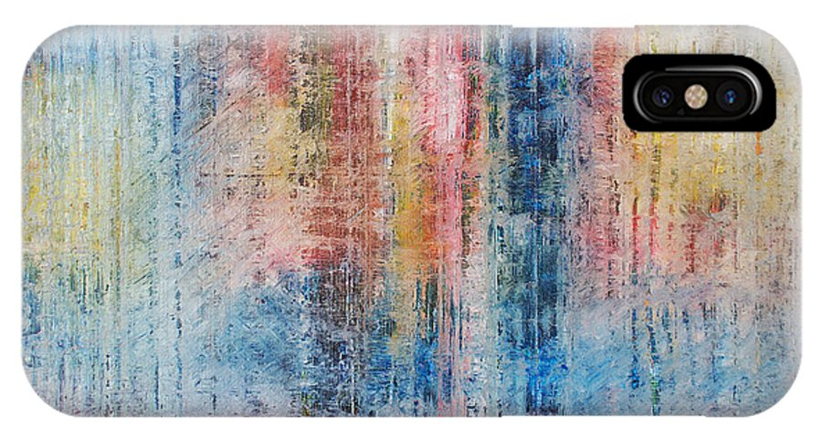 Derek Kaplan Art IPhone X Case featuring the painting A Soul Sings Alone by Derek Kaplan