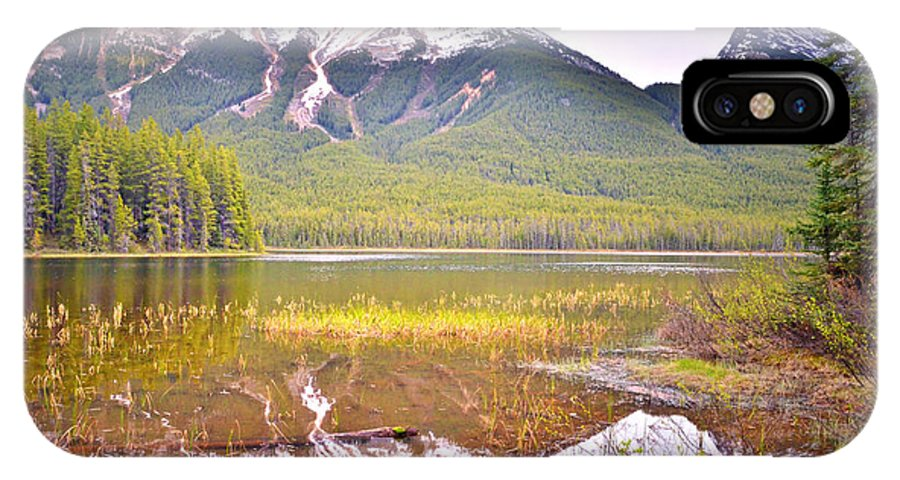 Buck IPhone X Case featuring the photograph A Still Day At Buck Lake by Tara Turner