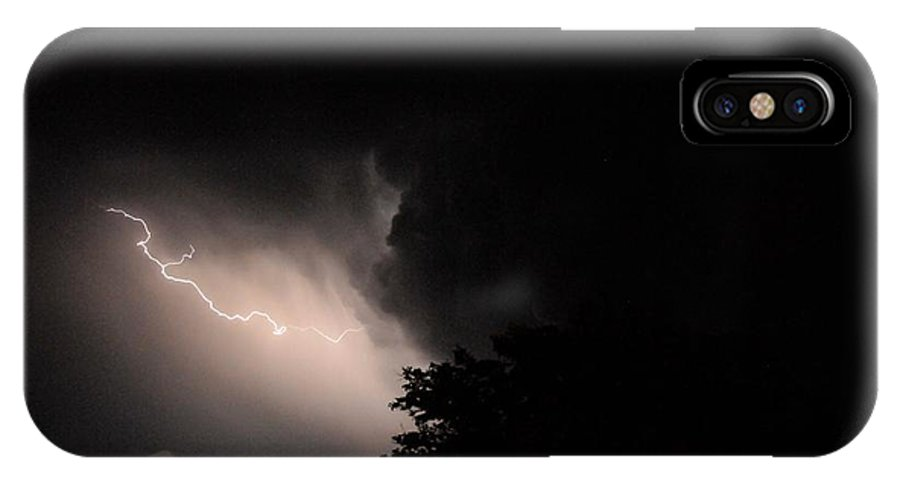 Weather IPhone X / XS Case featuring the photograph A Striking Display by David Pennington Sr