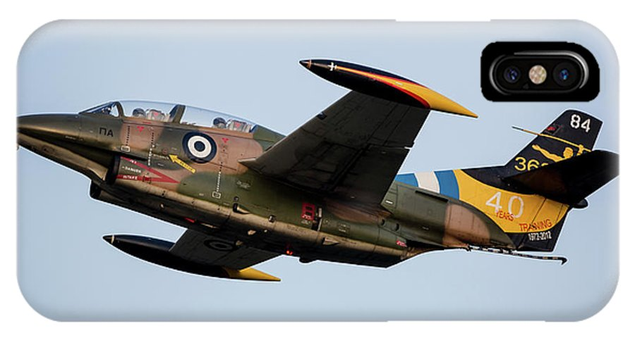 Greece IPhone X Case featuring the photograph A T-2e Buckeye Trainer Aircraft by Timm Ziegenthaler