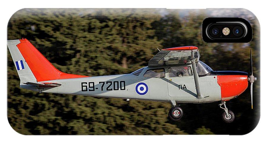 Greece IPhone X Case featuring the photograph A T-41d Trainer Aircraft by Timm Ziegenthaler