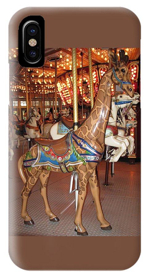 Carousel IPhone X Case featuring the photograph A Tall Ride by Barbara McDevitt