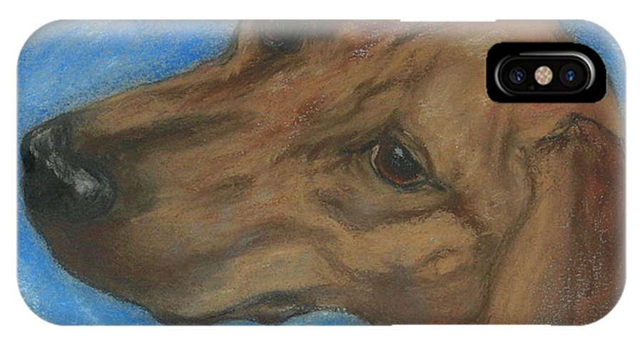Pastel IPhone X Case featuring the drawing A Twist Of Might by Cori Solomon