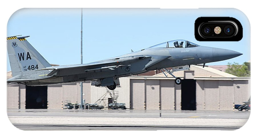 Nellis Air Force Base IPhone X Case featuring the photograph A U.s. Air Force F-15c Eagle Taking by Riccardo Niccoli