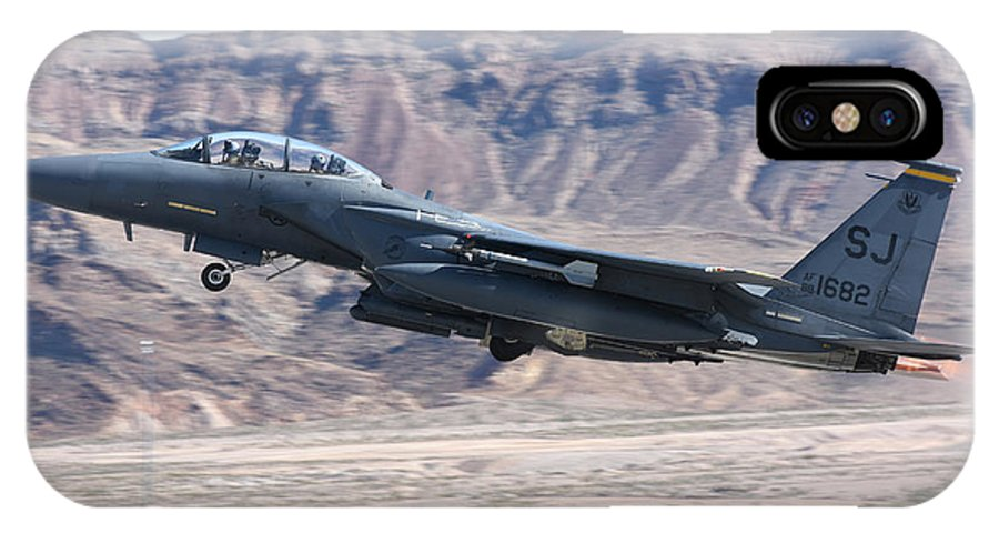 Nellis Air Force Base IPhone X Case featuring the photograph A U.s. Air Force F-15e Strike Eagle by Riccardo Niccoli