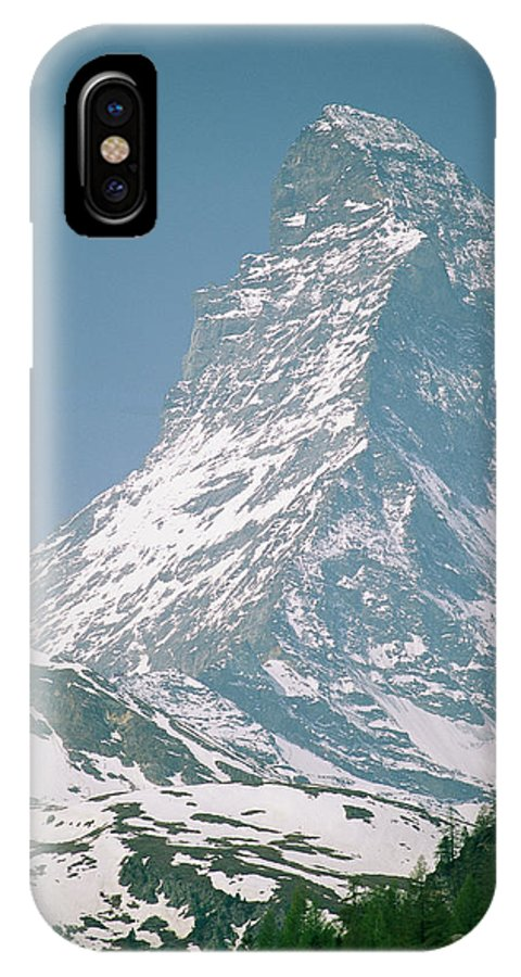 Europe IPhone X / XS Case featuring the photograph A View Of The Majestic Matterhorn by Gordon Wiltsie