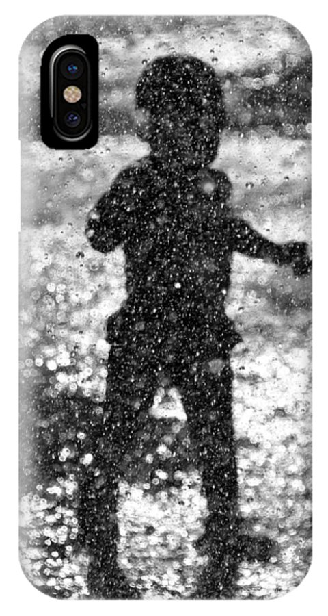 Pool IPhone X Case featuring the photograph A Walk Through The Sprinkler by Charles Feagans