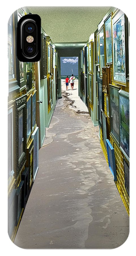 Paintings IPhone X Case featuring the photograph A Walk To The Beach by Larry Mulvehill